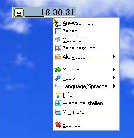 MRO WorkingTimeClock full screenshot